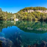 Голубые озера в Черекском районе Кабардино-Балкарии.