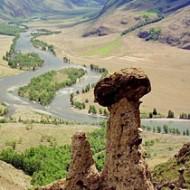 Каменные грибы в Горном Алтае.