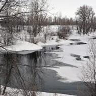Сбросной канал: зима. Балаково