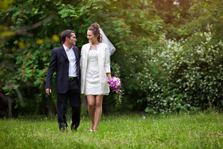 Свадебная фотография в Нескучном с
