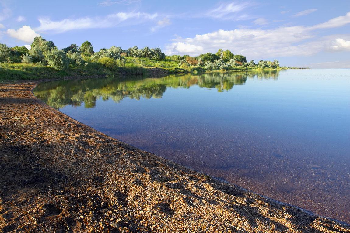 Караганда. Федоровское водохранилище.