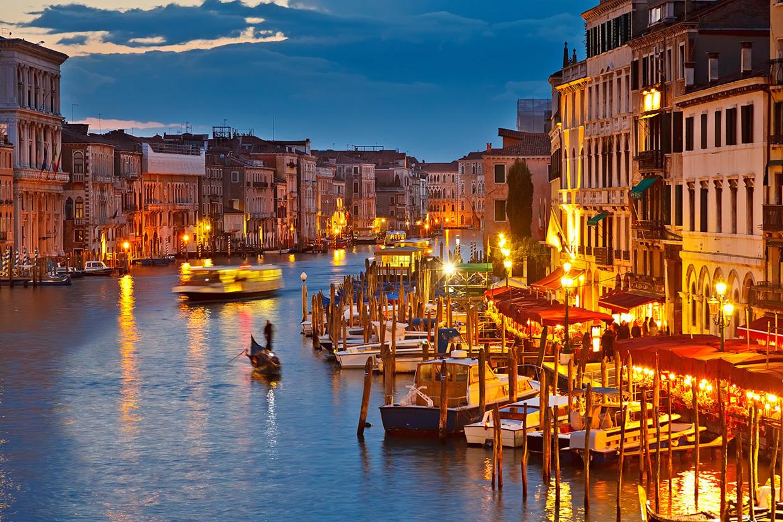 Большой Канал ночью, Венеция