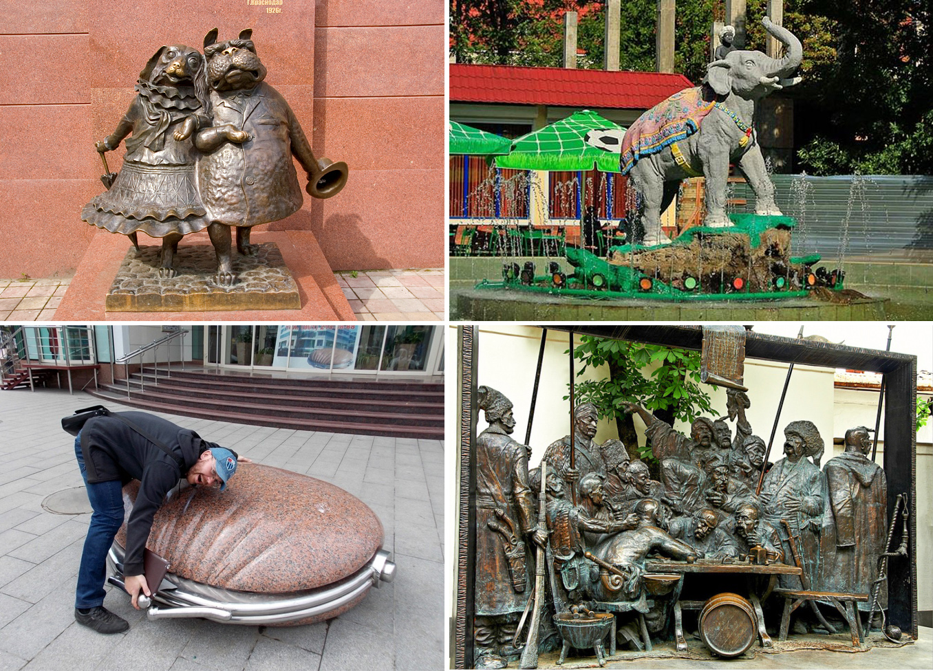 Оригинальные памятники Краснодара