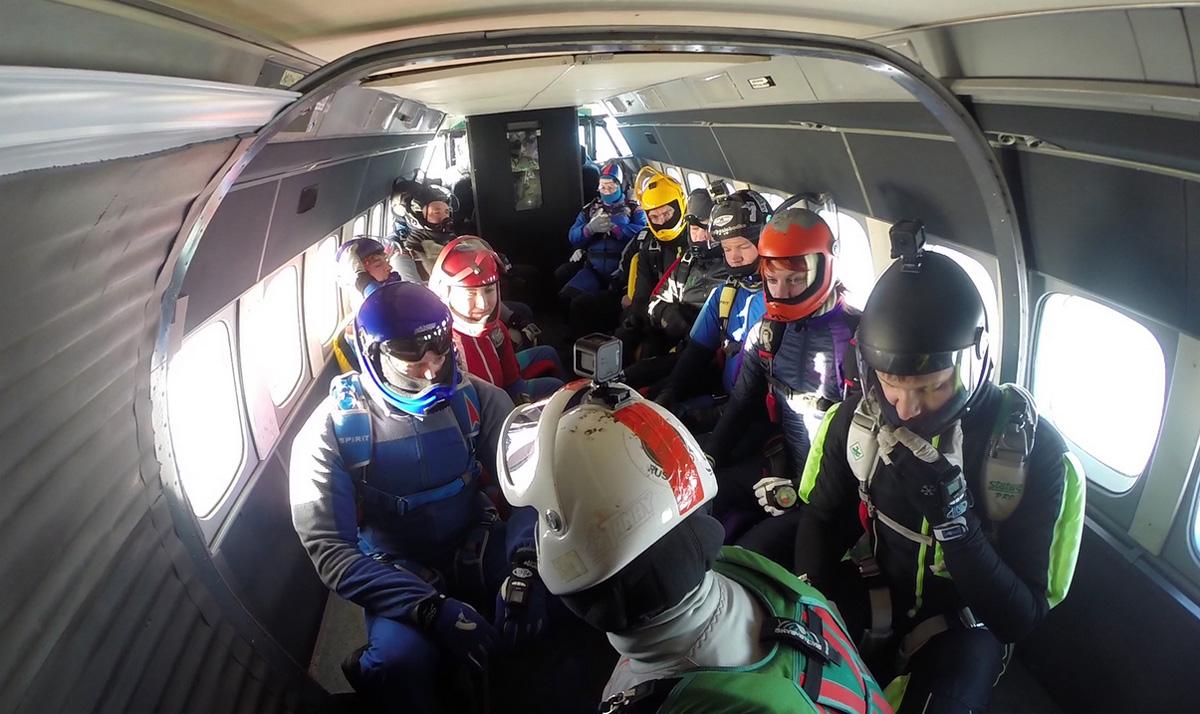 Прыжки с парашютом с высоты 4000 м