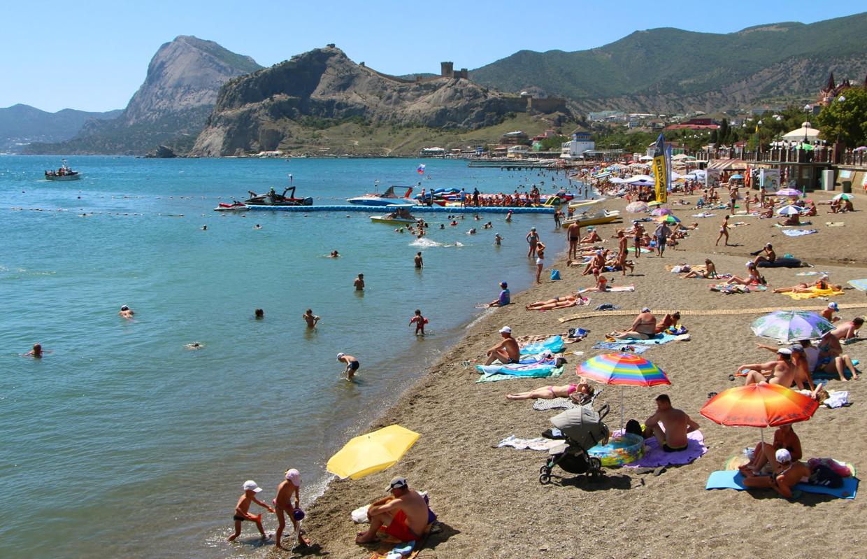 Пляжный отдых в Судаке, Крым