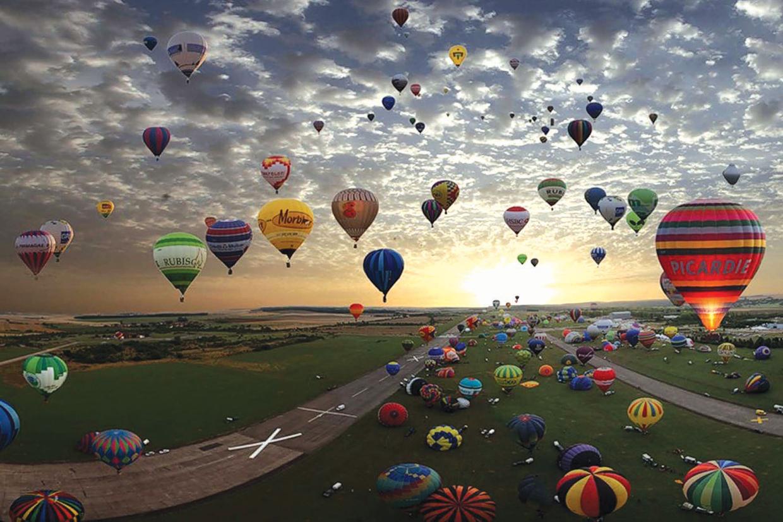 Фестиваль воздухоплавания в Альбукерке, Нью-Мексико.