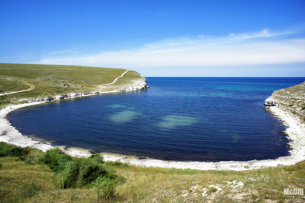 Крым, Тарханкут, бухта Большой Кастель.
