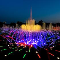 Цветомузыкальный фонтан в Царицыно