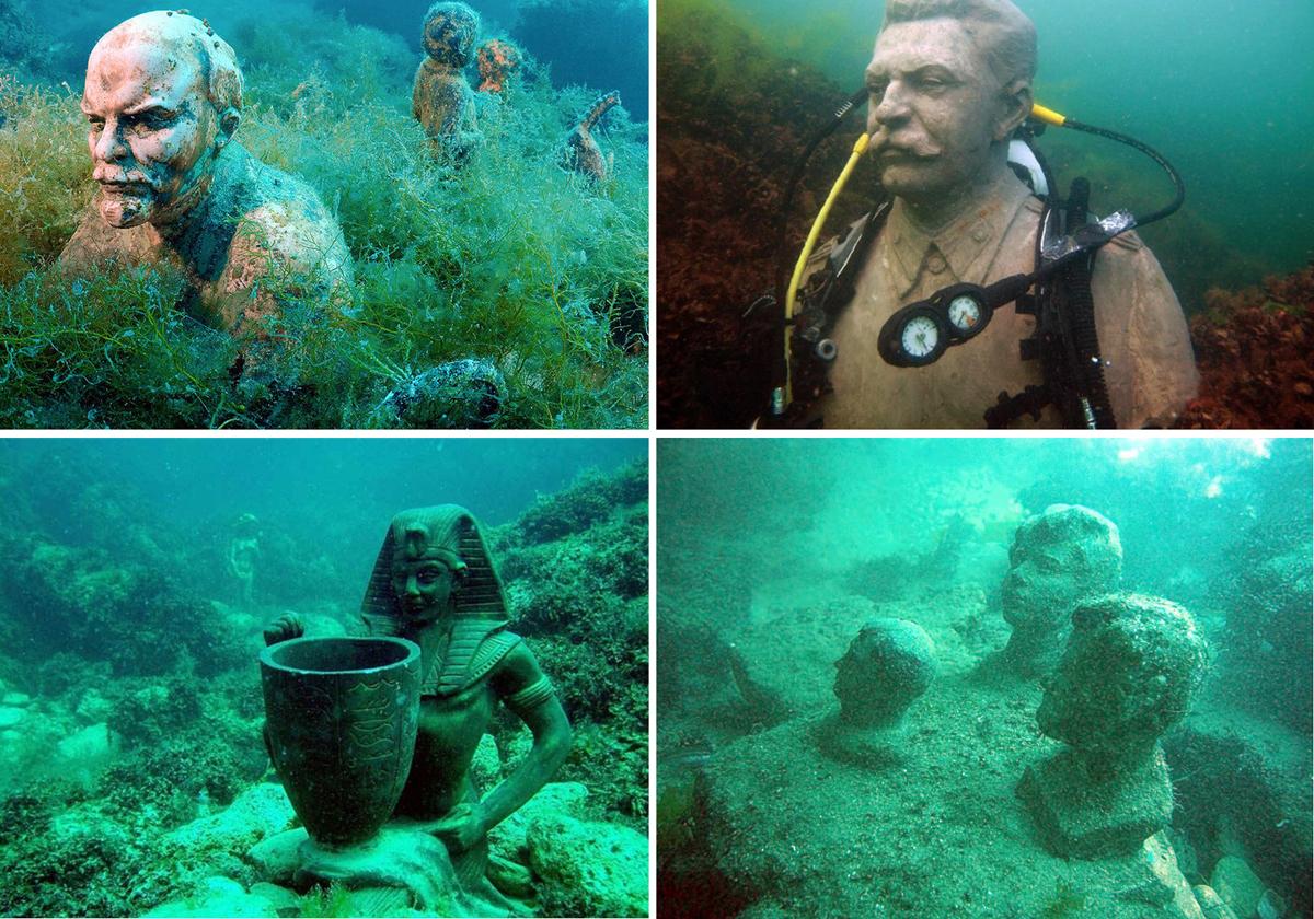 Подводный музей «Аллея вождей» (Оленёвка)