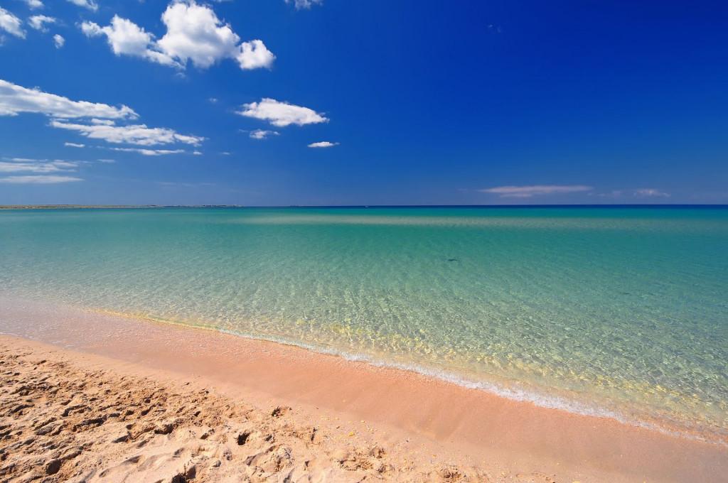 Пляж в Оленёвке