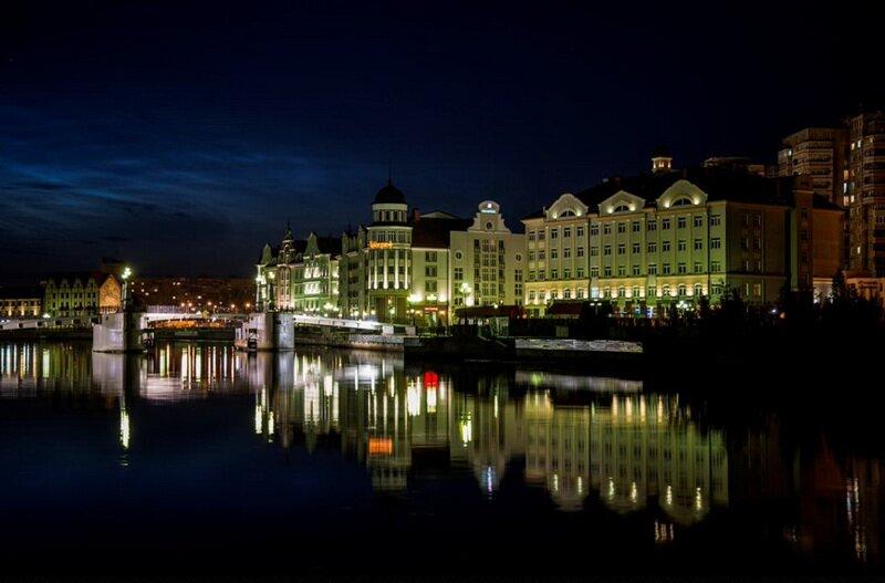 Калининград - фото ночного города.