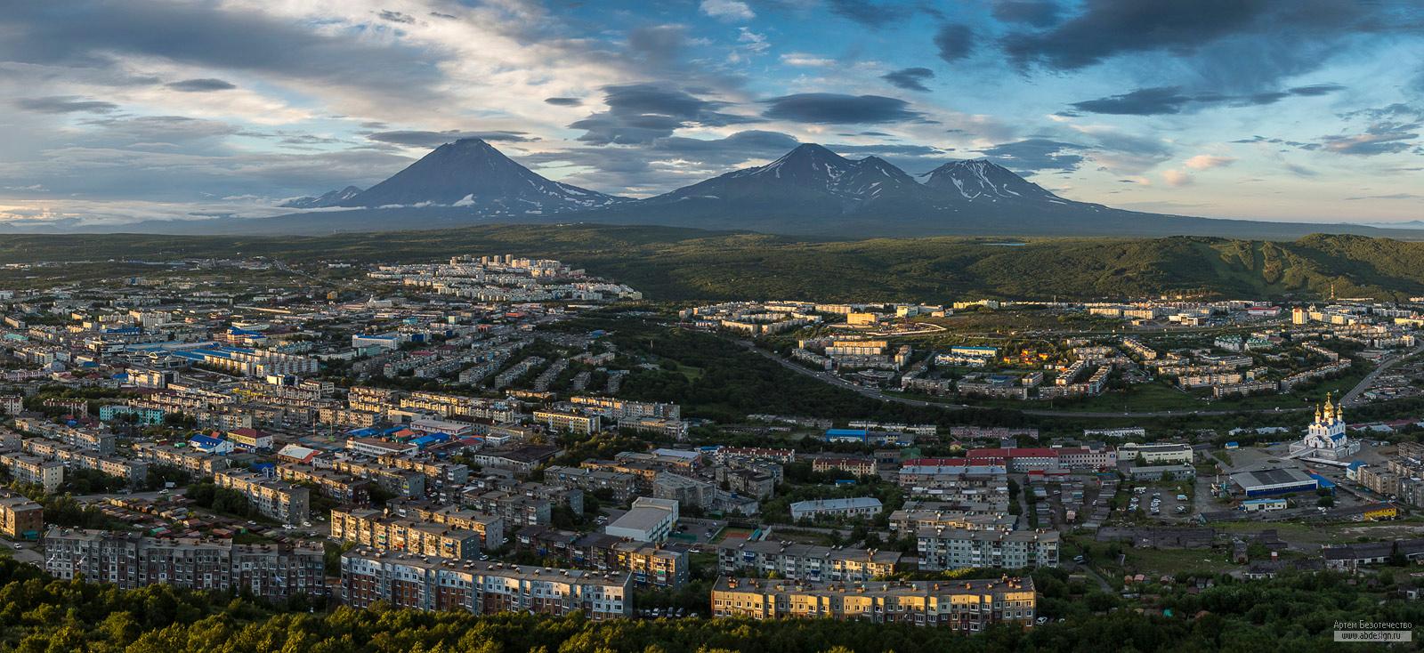 Петропавловск-Камчатский - вечерняя панорама