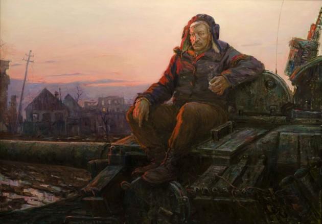 """Портрет танкиста Владимира Егоровича"", 2015г., холст, масло"