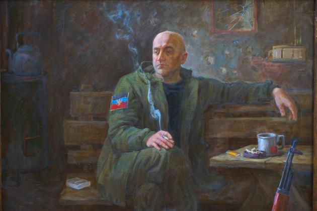 «Портрет Захара Прилепина. Раздумье», ДНР, 2017 г. холст. масло