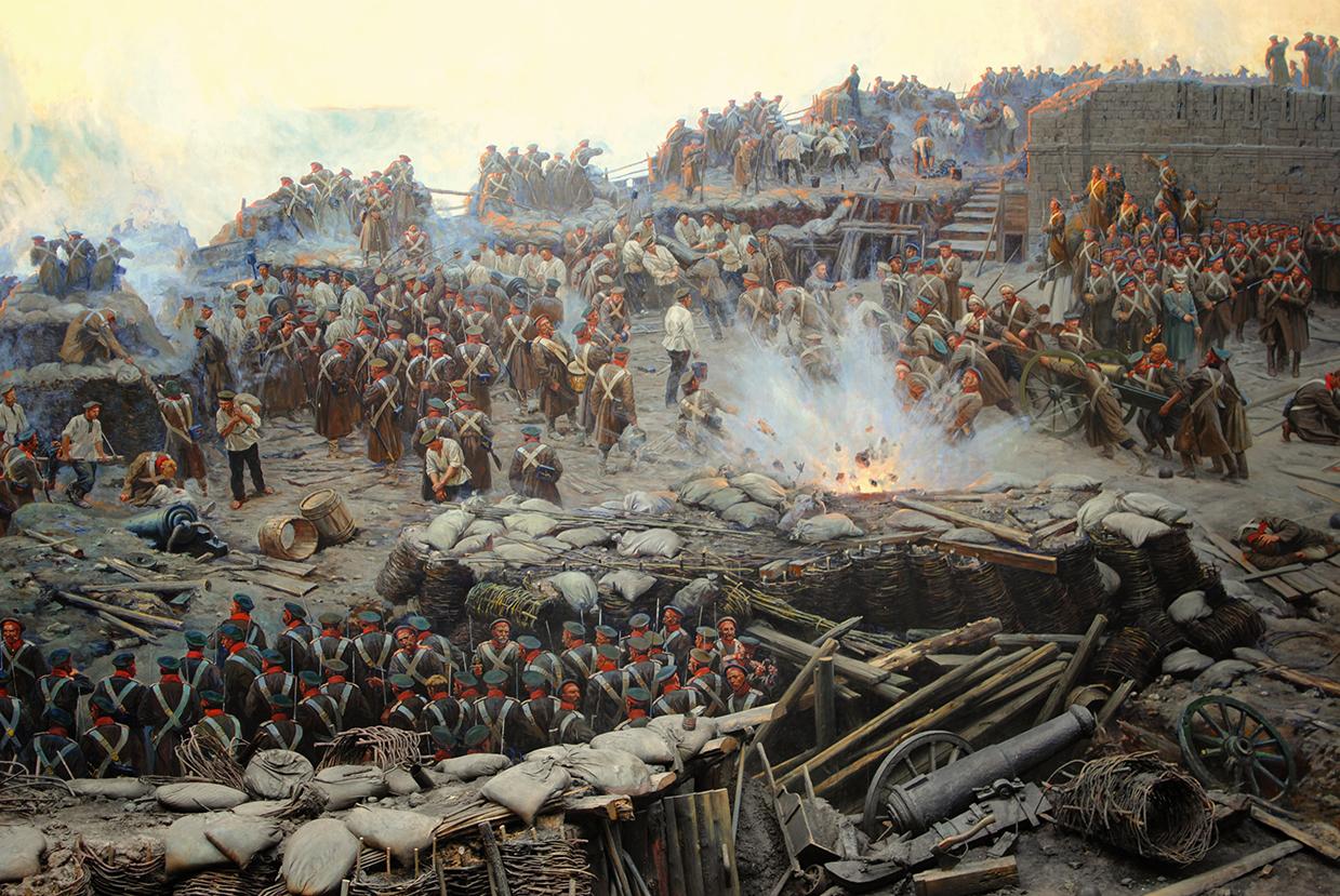 Полотно-панорама «Оборона Севастополя 1854 – 1855 гг.».